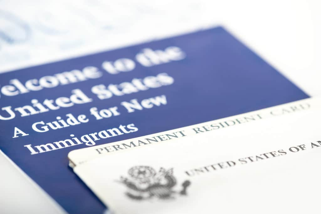 photo of a welcome pamphlet for new immigrants to the US